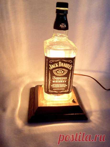 Лампа Jack Daniels. $45USD. Отличный подарок для мужчины.