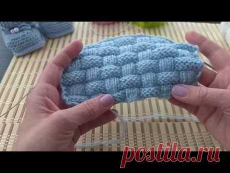 Плетенка, рельефный узор. Вязание спицами.