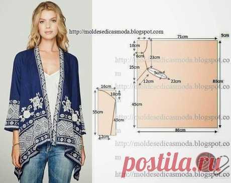 Моделирование оригинальных блузок и накидок — Сделай сам, идеи для творчества - DIY Ideas
