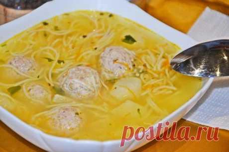 Суп с тефтелями и вермишелью: отзывы | Рецепт 1000.menu
