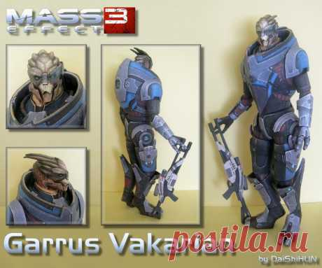 Garrus Vakarian ME3 Papercraft Garrus's new Appearance from Mass Effect 3 The armor texture was modified by me because i liked the looks of Garrus's alternate appearance pack armor from ME2. The template has by default the origi...