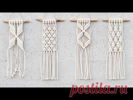 Макраме узлы (плоский узел, репсовый узел, спираль)