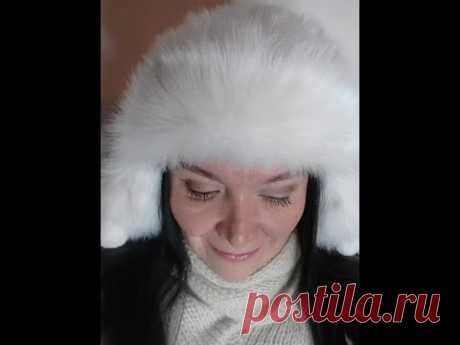 Зимняя шапка с ушками.Размер 56 - 59 Hat for winter - YouTube