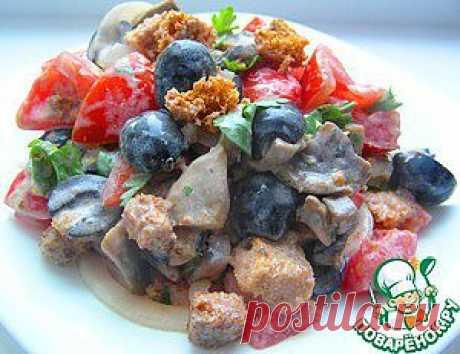 """Хлебный салат """"Нотка Италии"""" - кулинарный рецепт"""