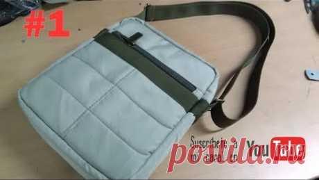 COMO CONFECCIONAR UN MORRAL O BANDOLERA ( PARTE 1) how to make a backpack or shoulder bag 1