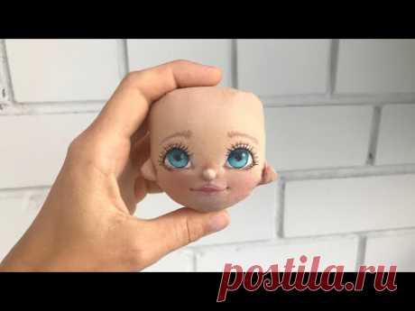 Рисуем милое личико   Текстильная кукла