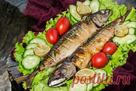 Fragrant mackerel on a brazier - Simple recipes of Овкусе.ру