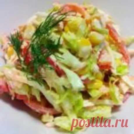 "Салат ""Семеновна"" с колбасой. - Мир кулинарии - медиаплатформа МирТесен"