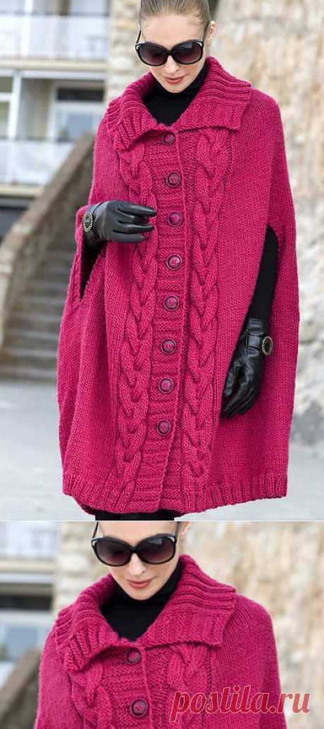 Пальто-пончо | Шкатулочка для рукодельниц
