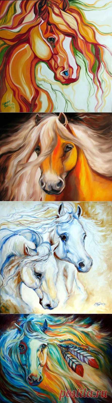 Marcia Baldwin. Лошади всех цветов радуги..(2).