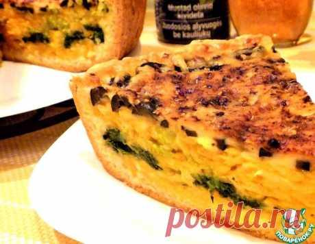 Тыквенно-сырный открытый пирог – кулинарный рецепт