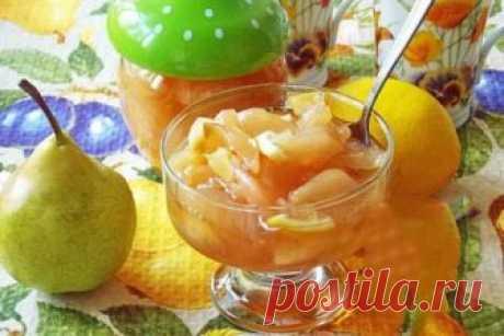 Как приготовить рецепт приготовления царского грушевого варенья с лимоном - рецепт, ингредиенты и фотографии