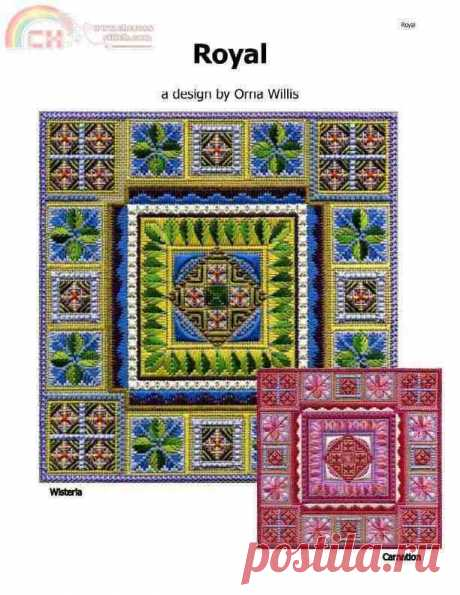 Royal Hardanger Sampler by Orna Willis Design-The Other Hand Works Communication / Download (Cant post new thread only reply)-Other Hand Works Resources|Magazines-PinDIY.com