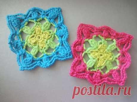 Square motive of The square motif Crochet