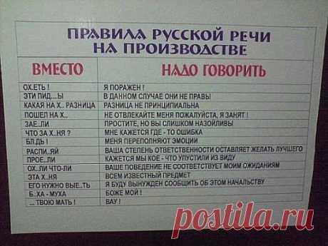 Правила русской речи!