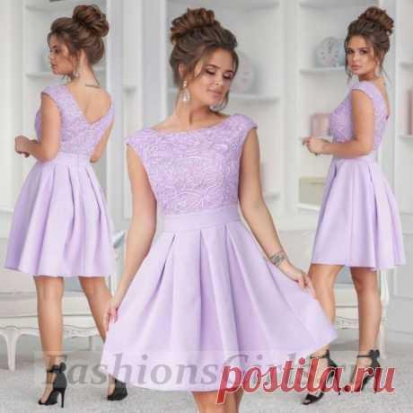 Вечернее платье с вышивкой по верху