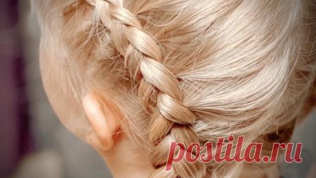Простая прическа с косами