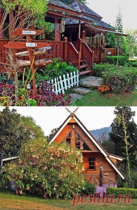 Подборка из 28 фото красивых дачных домиков — идеи для строительства на даче | Дачный дизайн
