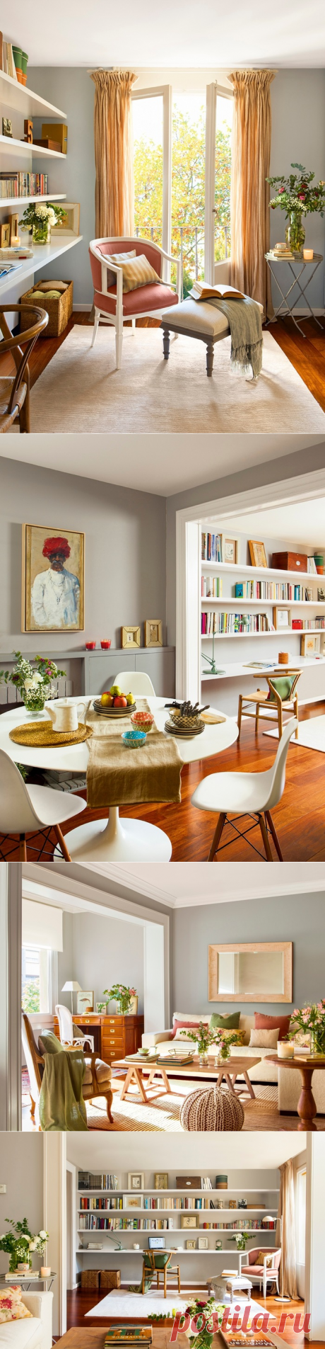 The gentle Spanish apartment for a family with two children