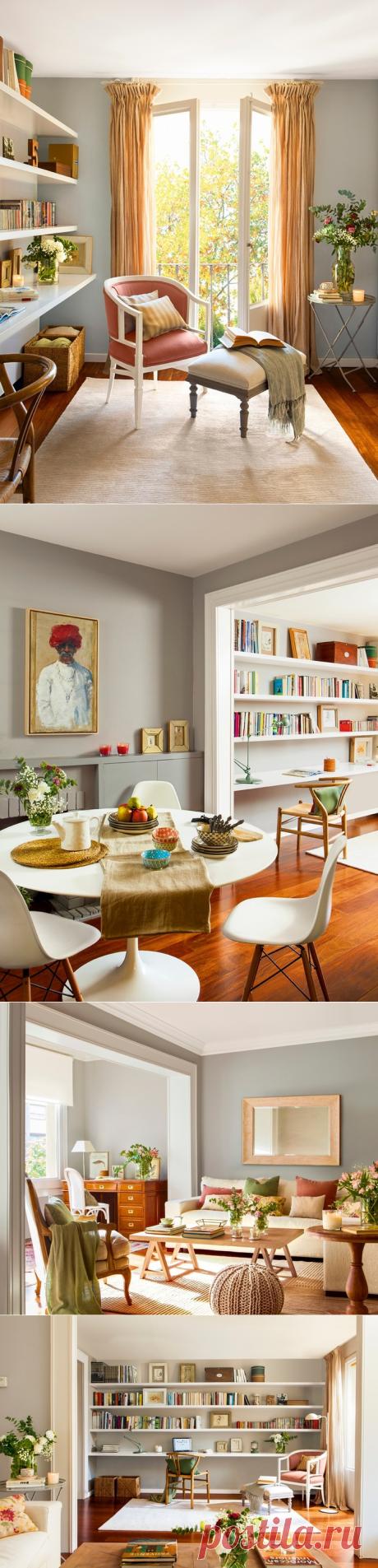 Нежная испанская квартира для семьи с двумя детьми
