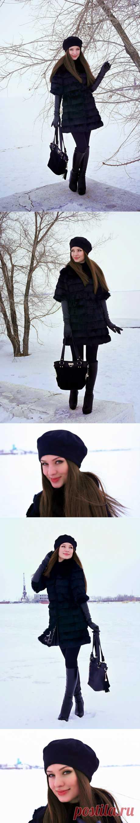 Coca Chic: Прощание с зимой! Total black look.