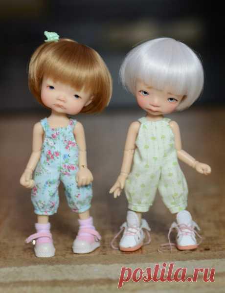 А не сшить ли нам летний комбинезончик? Небольшой мастер класс / Выкройки одежды для кукол-детей, мастер классы / Бэйбики. Куклы фото. Одежда для кукол
