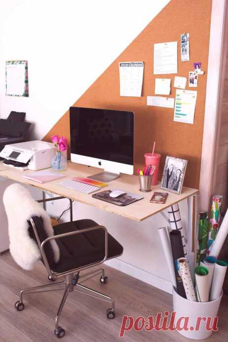 Пробковое рабочее место (DIY)