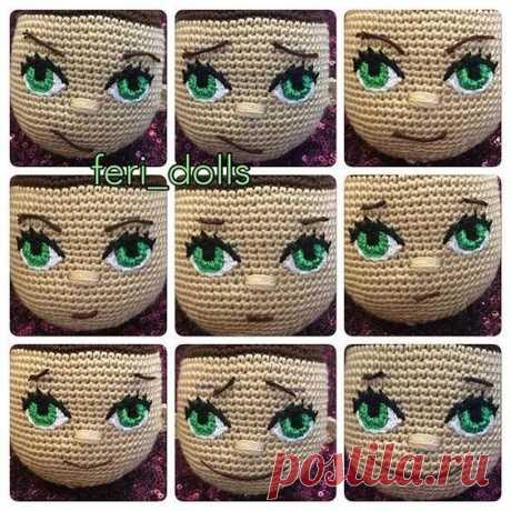 Шпаргалка по выражениям лица для кукол