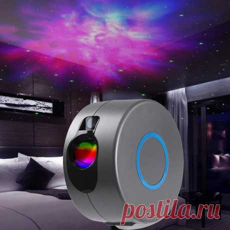 Stars and starry sky laser projector colorful night light led galaxy home projection lamp for kids gift Sale - Banggood.com
