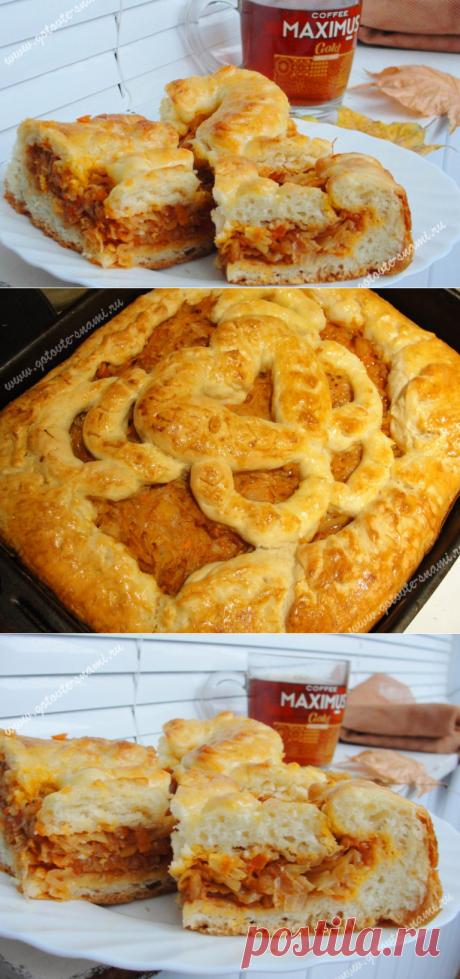 Пирог с капустой - тесто без яиц, самое вкусное! | Готовьте с нами