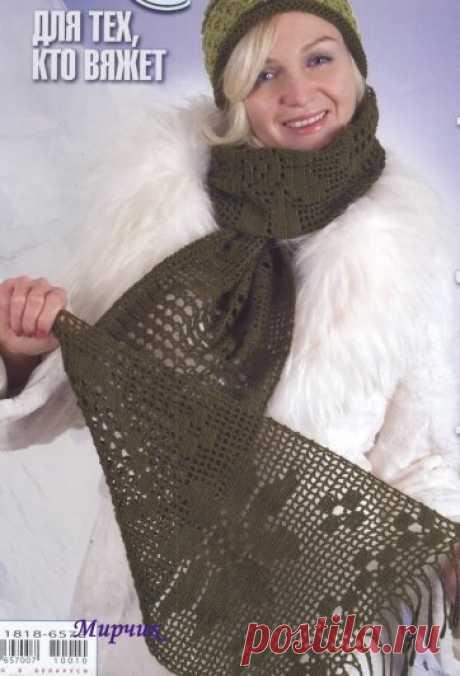 1449 - шарфи, шалі, палатини - В'язання для жінок - Каталог статей - Md.Crochet