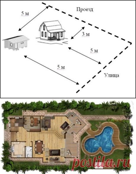 Постройки на садовом участке: оформление документов, правила размещения, разрешение, налоги