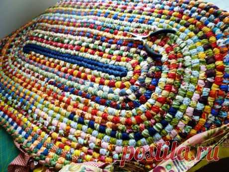 "Toothbrush rugs - вязание ""иглой"" коврика"