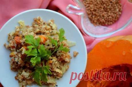 Запеченная гречневая каша с курицей и тыквой — Sloosh – кулинарные рецепты