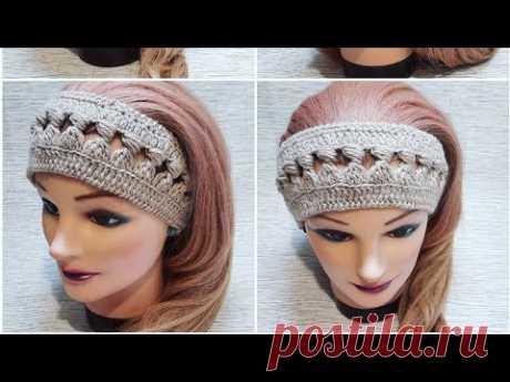 Повязка -ободок на весну крючком🌸crochet headband pattern