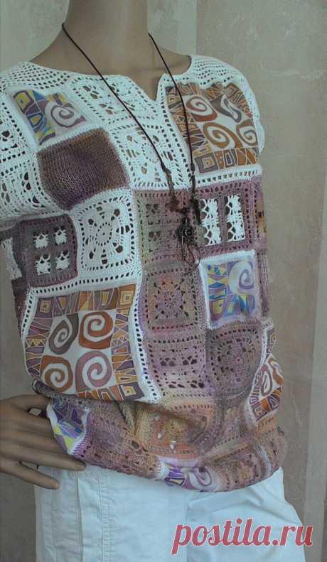 Вязание + ткань! Замечательные идеи для вдохновения 👍 | Вяжем, лепим, творим, малюем) | Яндекс Дзен