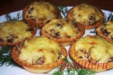 Как приготовить жюльен в тарталетках - еще одна шикарная закуска на праздничный стол - рецепт, ингредиенты и фотографии