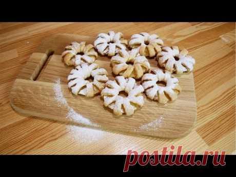 Слоеные булочки с ананасами