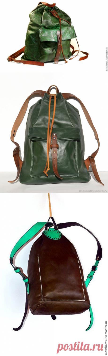 Рюкзак кожаный ручной работы № 130 цвет любой. Авторская работа – купить в интернет-магазине на Ярмарке Мастеров с доставкой - 1UM5HRU | Москва