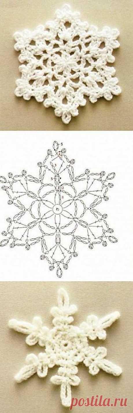Вязание снежинок | Вязание спицами, крючком, уроки вязания