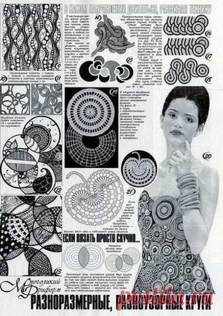 Филейные нерегулярные круги - вязание крючком | Левреткоман-оч.умелец | Яндекс Дзен