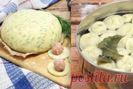 Приготовьте необычное тесто на кефире и с укропом. Оно лучше и на вкус, и на вид — такие себе оригинальные пельмешки, сразу и не поймешь, почему…