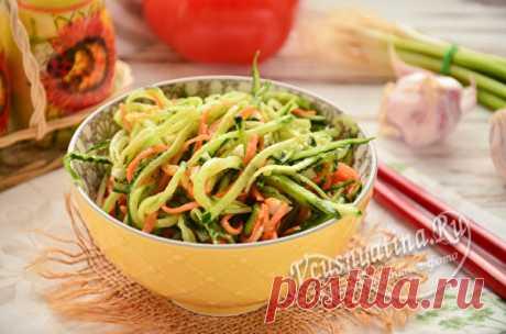 Огурцы по-корейски: самый вкусный рецепт быстрого приготовления Рецепт быстрого приготовления самой вкусной закуски огурцов по-корейски. Закуска получается в меру острой и подходит к мясным блюдам.