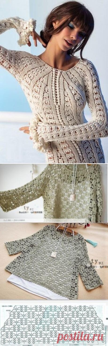 Разнообразие пуловеров (идеи и схемы для крючка) | Южная сова | Яндекс Дзен