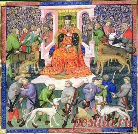 . Грейхаунд Гинфорт принадлежал одному рыцарю, жившему в замке в окрестностях Лиона. Однажды рыцарь отправился на охоту, оставив Гинфорта охранять своего маленького сына. Когда рыцарь вернулся с охоты и вошел в детскую комнату, то увидел, что в ней царит полный беспорядок – колыбель была перевернута, ребенка нигде не было видно, а Гинфорт скалился на своего хозяина окровавленной пастью. Решив, что Гинфорт загрыз его сына, рыцарь в ярости убил собаку. И вдруг он услышал детский плач. Рыцарь перев