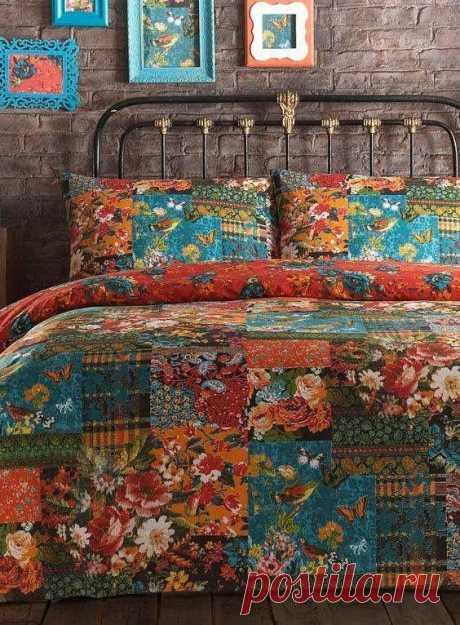 Лоскутные одеяла в интерьерах