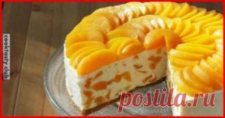 Торт из творога с апельсинами без выпечки