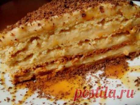 Очень домашний и вкусный Торт «Крем-брюле». Готовила на день Рождение! Готовить быстро и без заморочек!