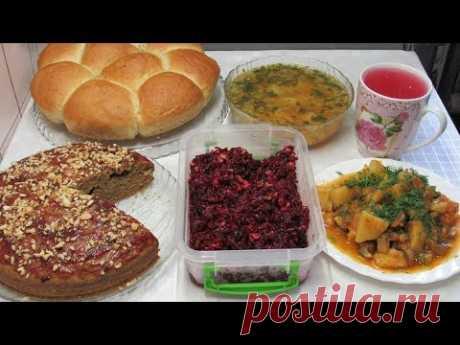 6 Постных блюд на пару дней - Завтрак, Обед и Ужин. Recipes of lenten dishes