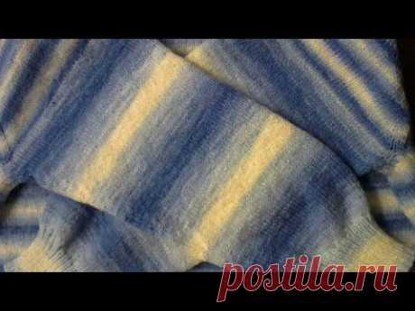 Джемпер. Реглан сверху. Часть 3 .Рукава. #мастеркласс #красивыйузор #вязание #knitting #лучшее #мк - YouTube